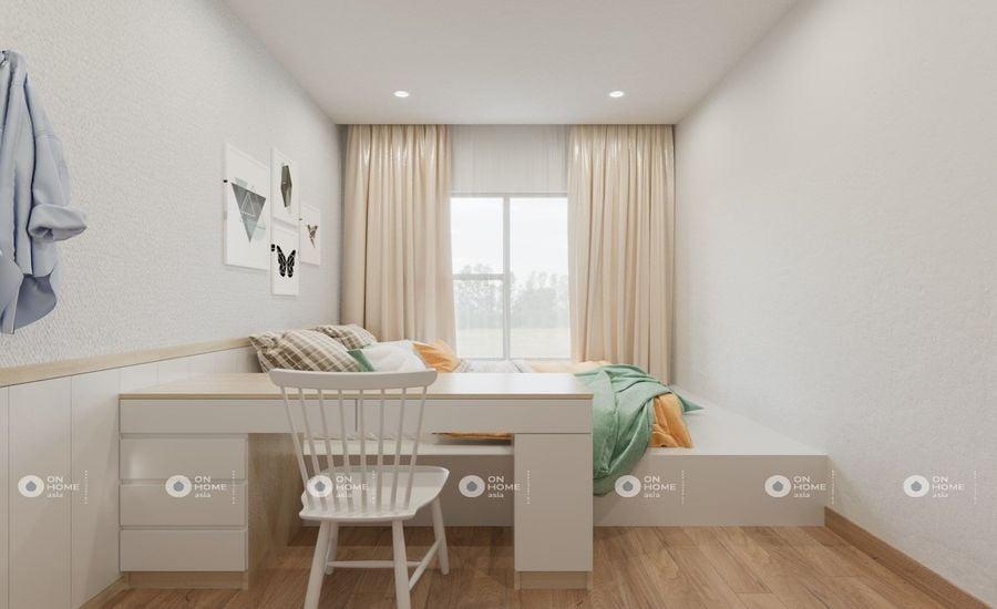 Thiết kế căn hộ 1 phòng ngủ Sora Garndens 2 (Ảnh: OnHome Asia)