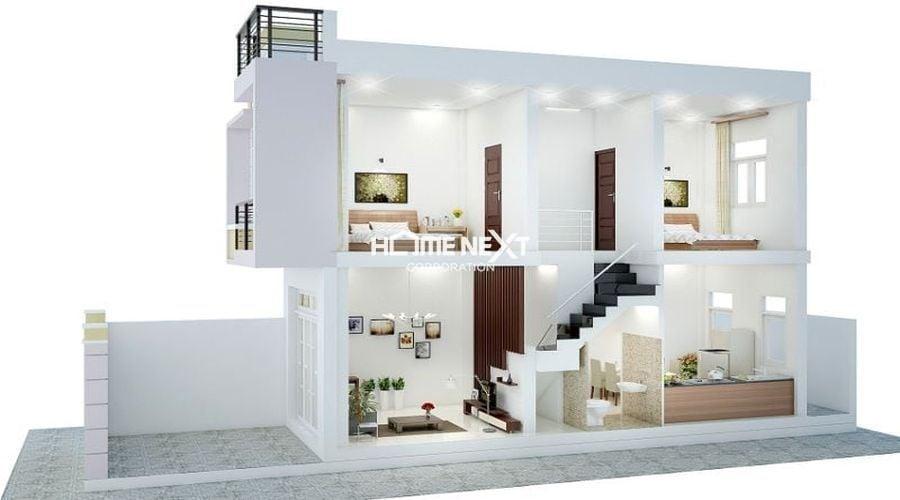 Mô hình phối cảnh thiết kế nhà ở