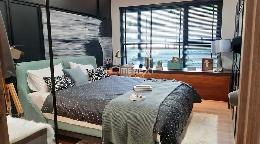 Phòng ngủ nhỏ thiết kế đơn giản, gọn gàng