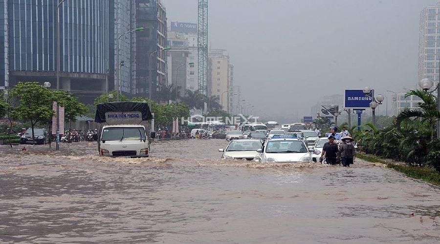 Nhiều tuyến đường vẫn ngập úng mỗi khi mưa lớn
