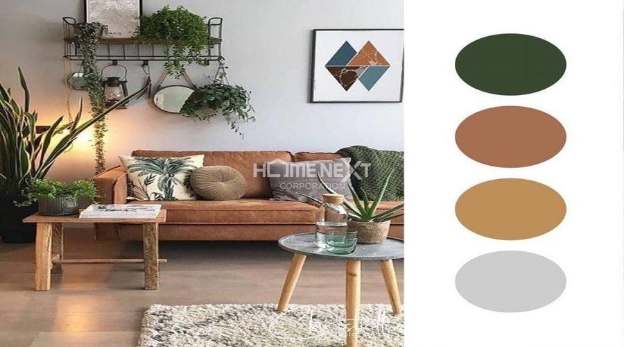 Phối hợp màu sắc trong bố cục nội thất