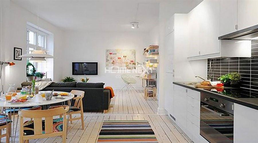 Bố trí nội thất cho căn hộ 64m2 theo phong cách không gian mở