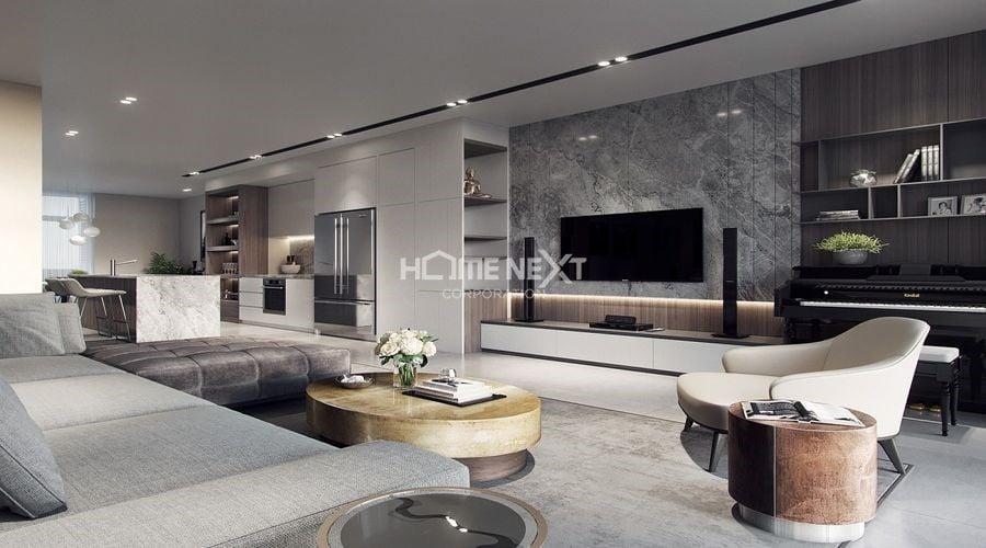 Thiết kế nội thất chung cư hiện đại, thoáng mát, sang trọng