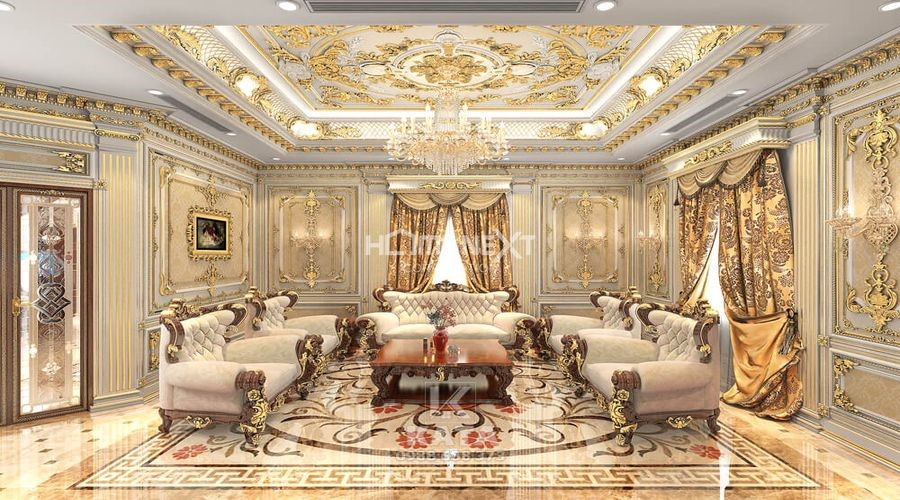 Không gian xa hoa, lộng lẫy với nội thất phong cách cổ điển