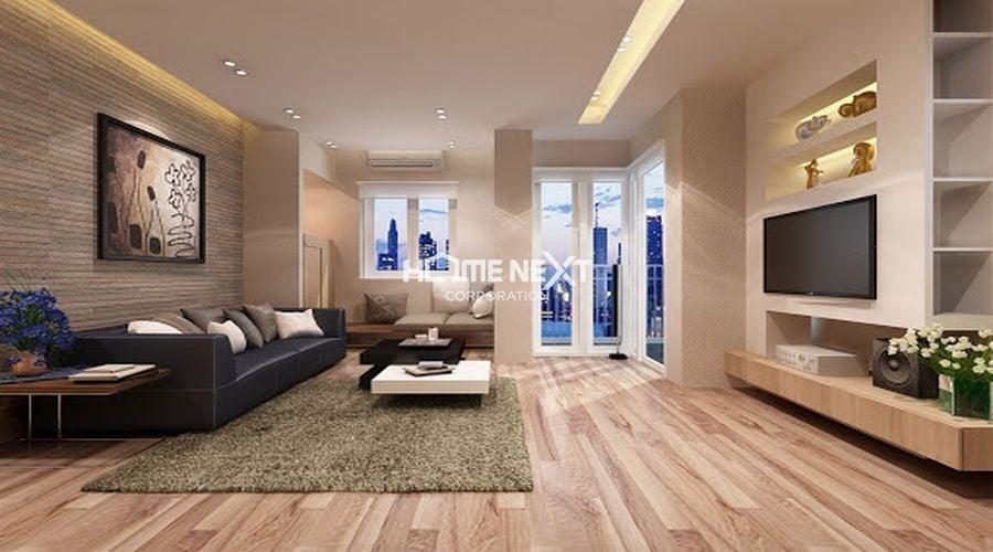 Lát sàn nhà bằng gỗ là thủ thuật để nới rộng không gian