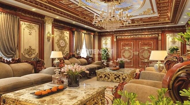 Thiết kế nội thất cổ điển với những đường nét tinh xảo, sang trọng