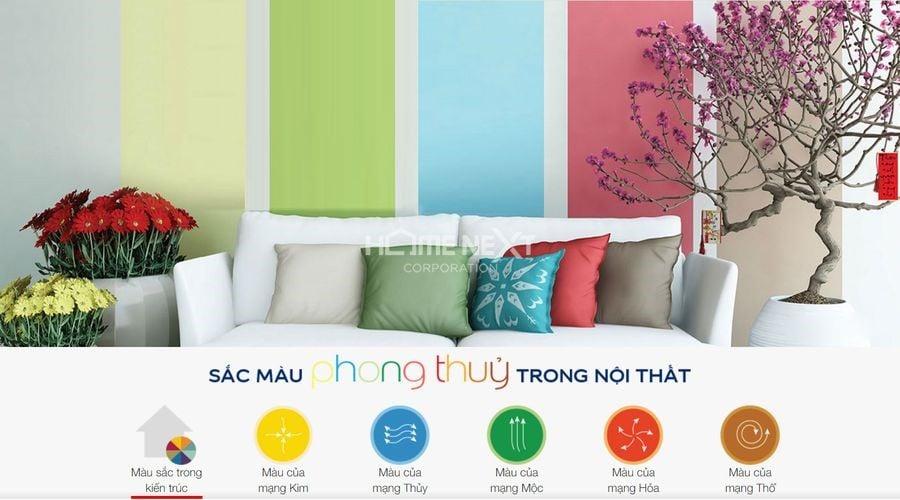 Vận dụng màu sắc trong thiết kế nội thất căn hộ