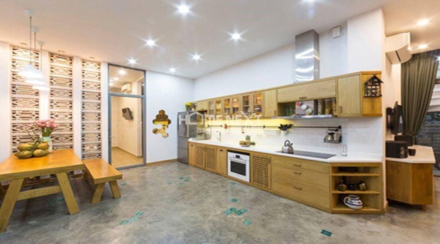 Bếp và phòng ăn được kết hợp trong cùng khu vực