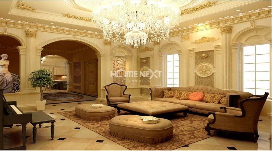 Đường phào chỉ Vàng làm nổi bật không gian phòng khách