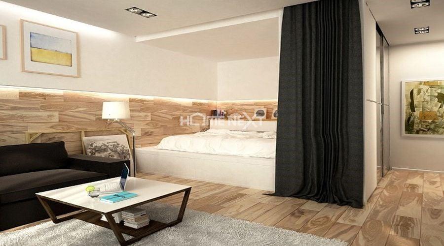 Ngụy trang phòng ngủ bằng cách rèm kéo