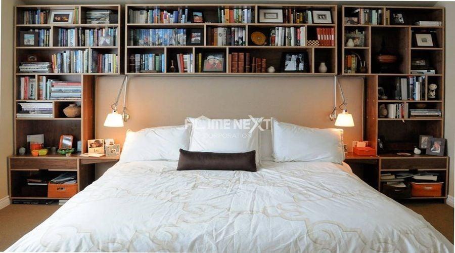 Kệ sách trang trí phòng ngủ