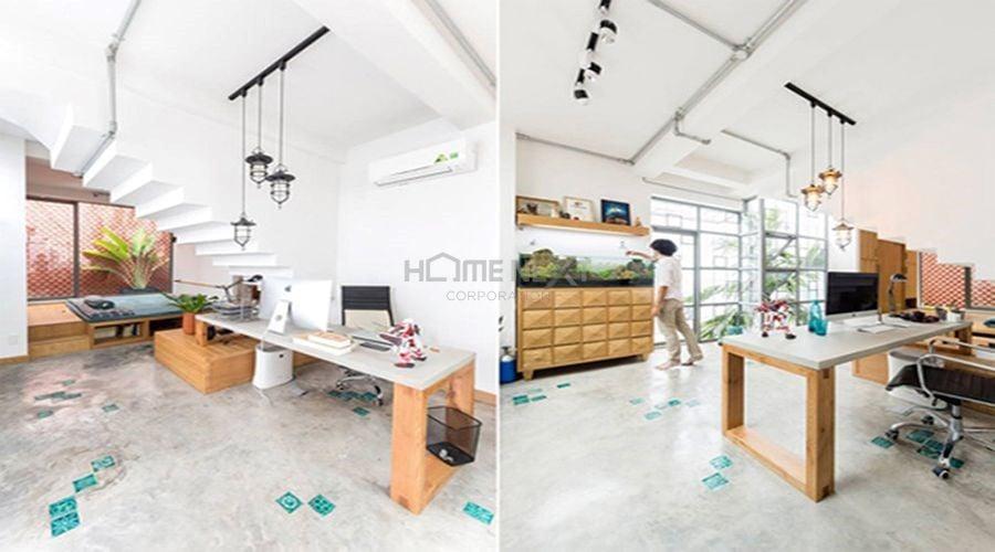 Chủ nhân căn hộ là người khá giản dị với nội thất được tiết chế nhiều