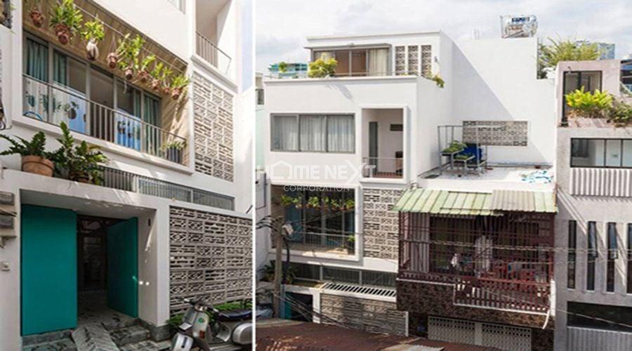 Ngôi nhà phố kết kết hợp căn hộ cho thuê ở TP.HCM
