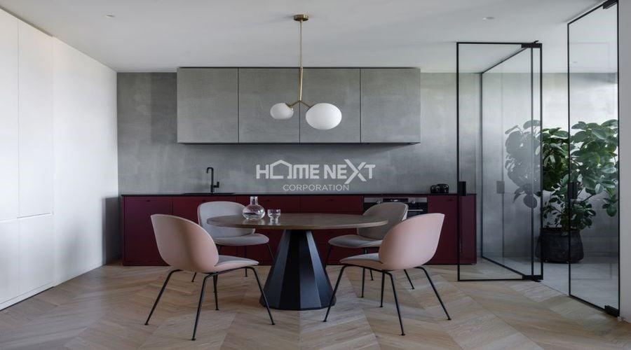 Thiết kế tối giản, hạn chế vách tường của căn hộ 1 phòng ngủ