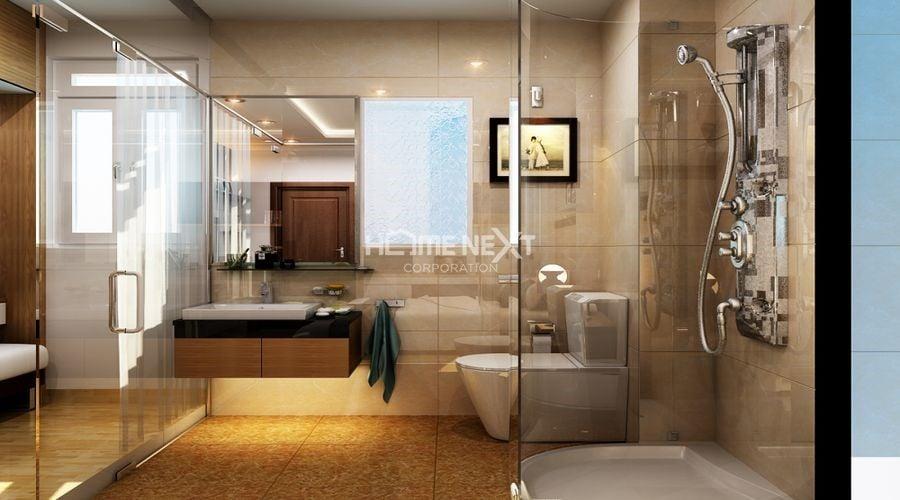 Phòng tắm có thiết kế sang trọng, hiện đại