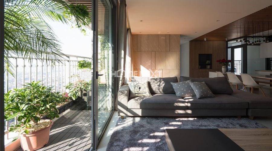 Tận dụng ánh sáng từ ban công để căn hộ được thoáng đãng hơn