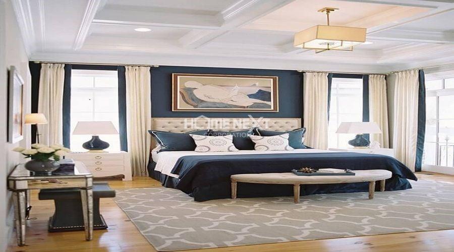 Phòng ngủ master sẽ tương đồng với phong cách của tổng thể ngôi nhà