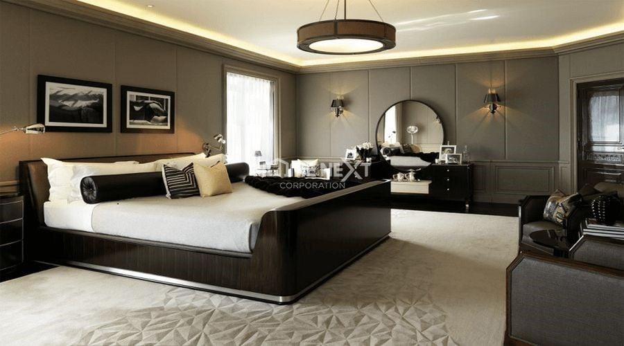 Phòng ngủ master nên sử dụng hệ thống đèn có ánh sáng dịu nhẹ