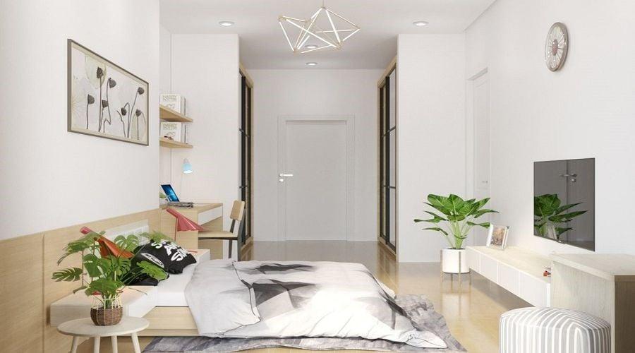 Phòng ngủ nhỏ với thiết kế tối giản