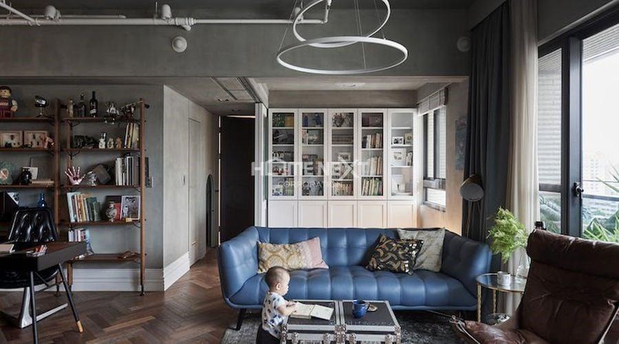 Nội thất thất của chung cư này kết hợp phong cách cổ điển và hiện đại
