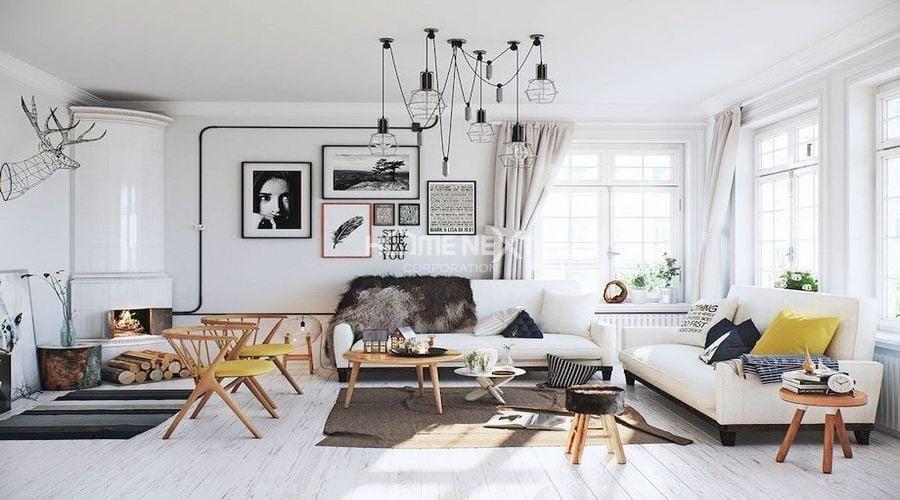 Phòng khách theo phong cách thiết kế Scandinavian