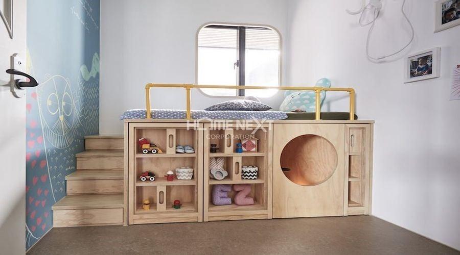 Phòng ngủ của bé sử dụng nội thất đa năng