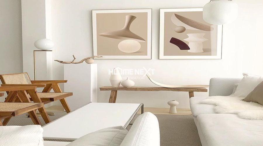 Màu Beige được sử dụng nhiều trong thiết kế nội thất hiện nay