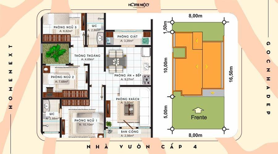 Bản vẽ chi tiết về ngôi nhà cho gia đình nhỏ