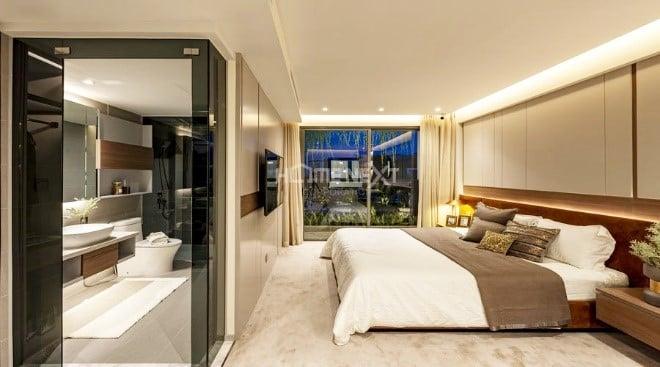Phòng ngủ thiết kế đơn giản nhưng vẫn hiện đại đầy đủ công năng