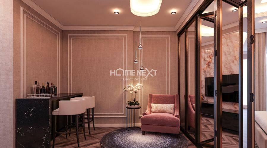 Thiết kế nhà mẫu 1 phòng ngủ tại Eco Xuân block C