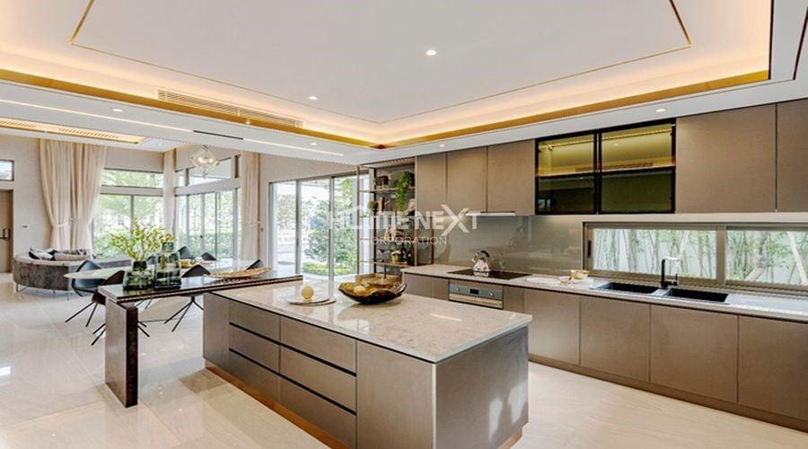 Thiết kế phòng khách liên thông với khu vực bếp