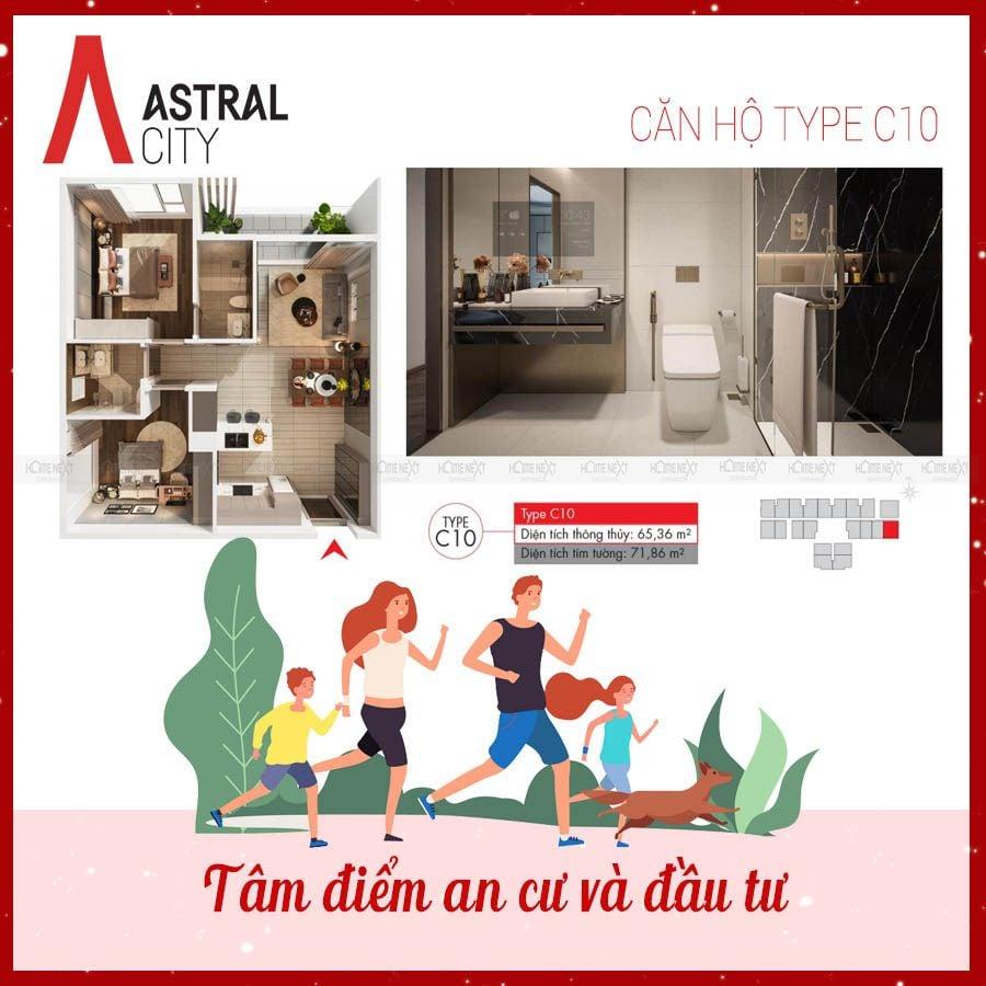 Mẫu bản vẽ căn 2 phòng ngủ tại dự án Astral City Bình Dương