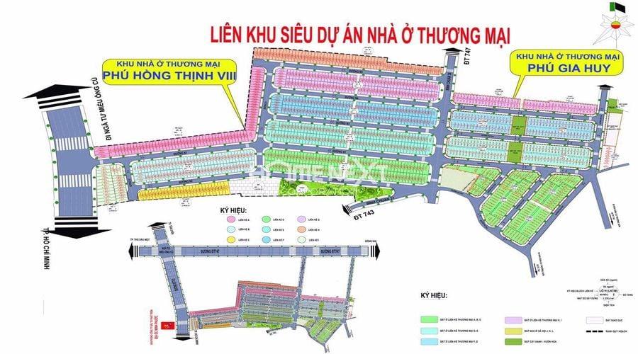 Sơ đồ khu nhà ở thương mại Phú Gia Huy