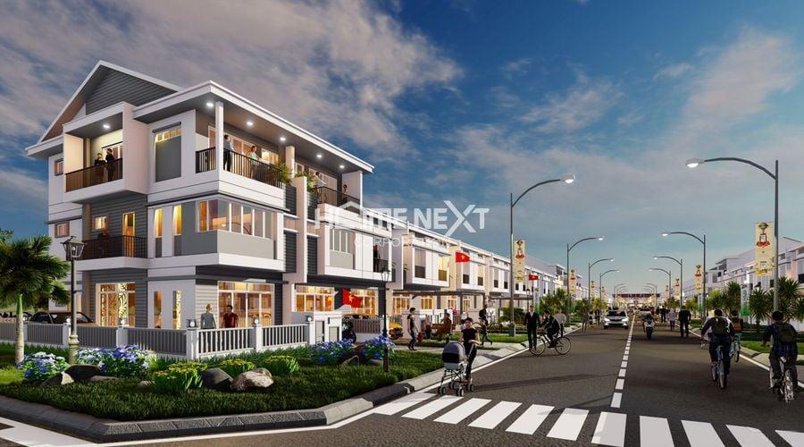 Hình ảnh căn góc diện tích 6x20 1 trệt 2 lầu của dự án nhà phố Vườn Thiên Đàng