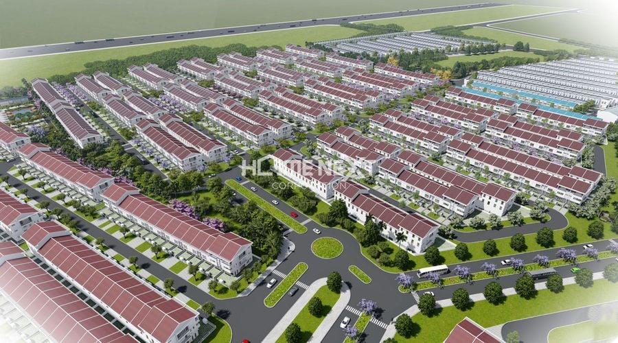 Phối cảnh tổng thể nhà phố Vườn Thiên Đàng EcoLakes
