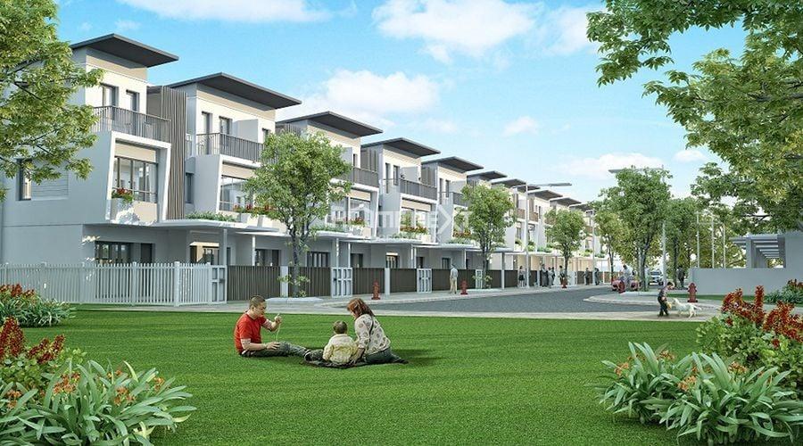 Thiết kế nhà phố hiện đại có không gian xanh