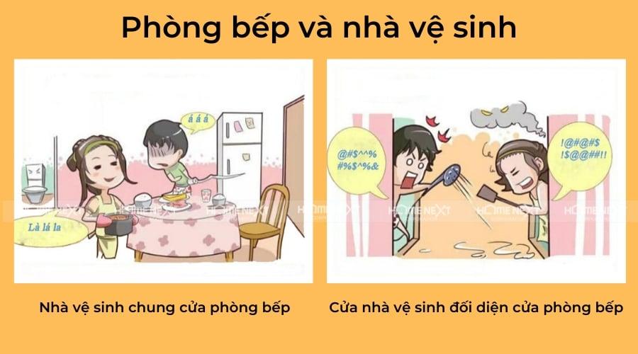 nha-ve-sinh-dat-huong-sai-voi-nha-bep