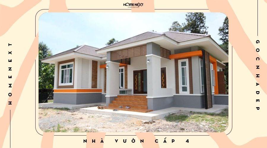Ngôi nhà cấp 4 mái Thái thực tế