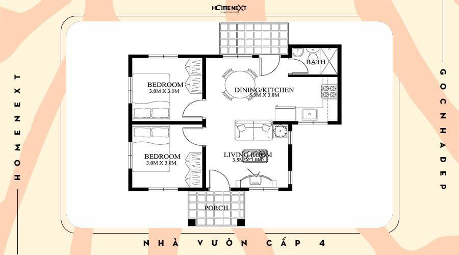 Không gian nhà đơn giản