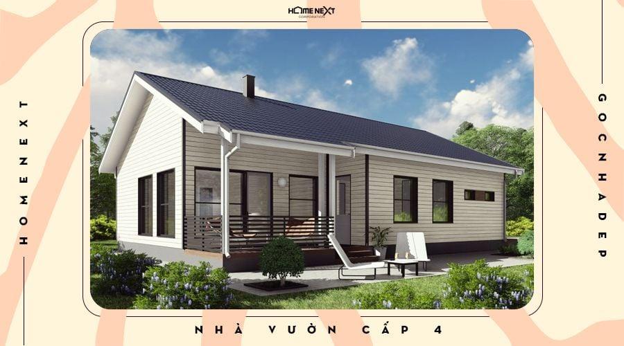 Mẫu thiết kế nhà vườn cấp 4