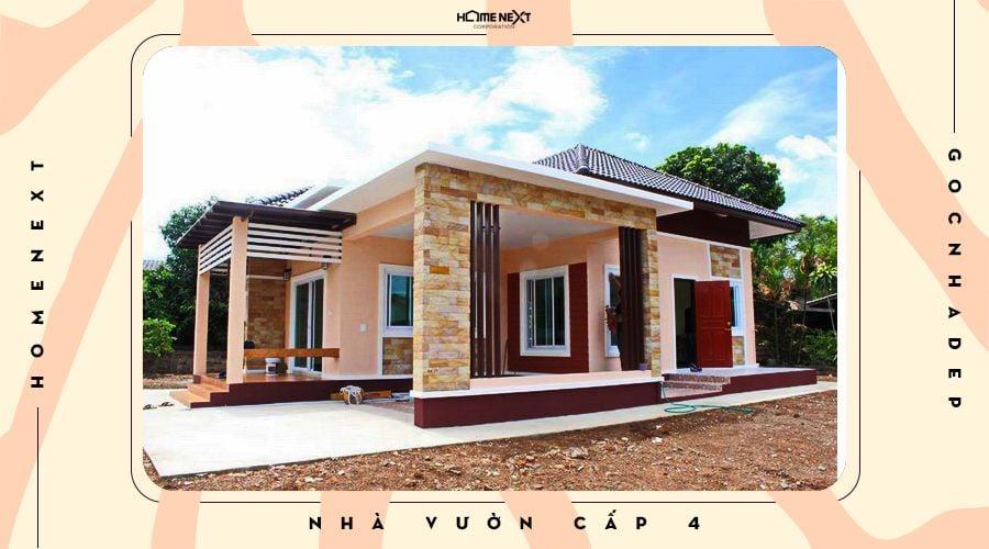 Căn nhà cấp 4 đẹp đang được xây dựng