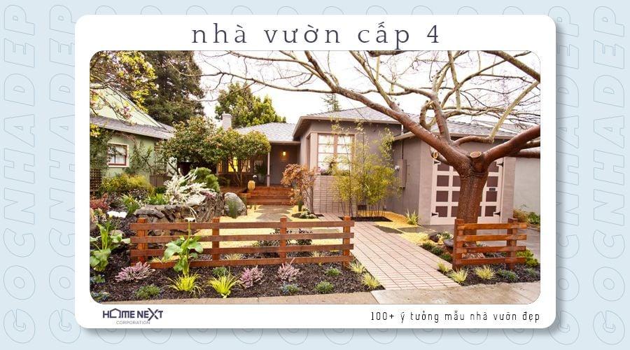 Nhà vườn cấp 4 kiểu Nhật kết hợp với các tiểu cảnh độc lạ