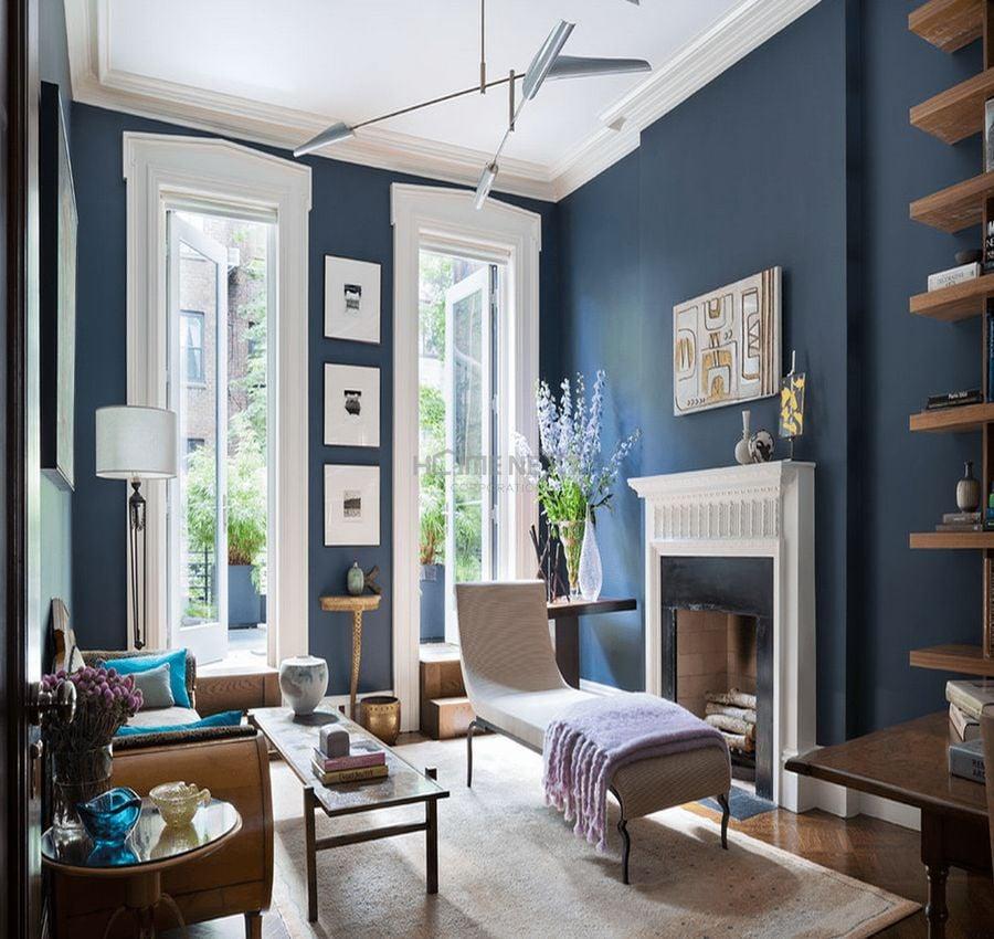 Những gam màu nên kết hợp cho phòng khách mệnh Thủy