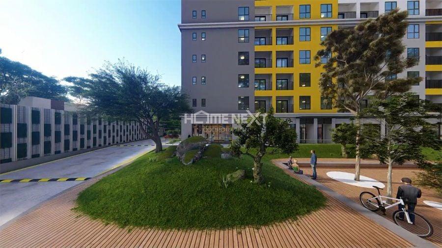 Khuôn viên xanh tại Bcons Plaza