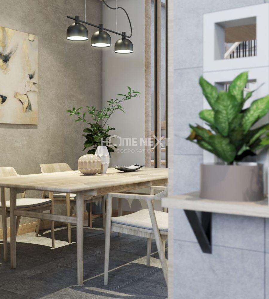 Bộ bàn ăn sử dụng vật liệu gỗ