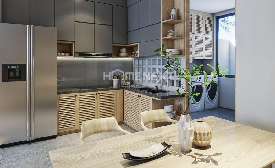 Không gian bếp được thiết kế hiện đại và vô cùng ấn tượng