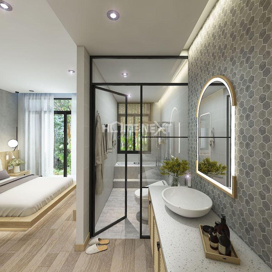 Nhà vệ sinh tầng 2 của nhà phố takara residence chánh nghĩa