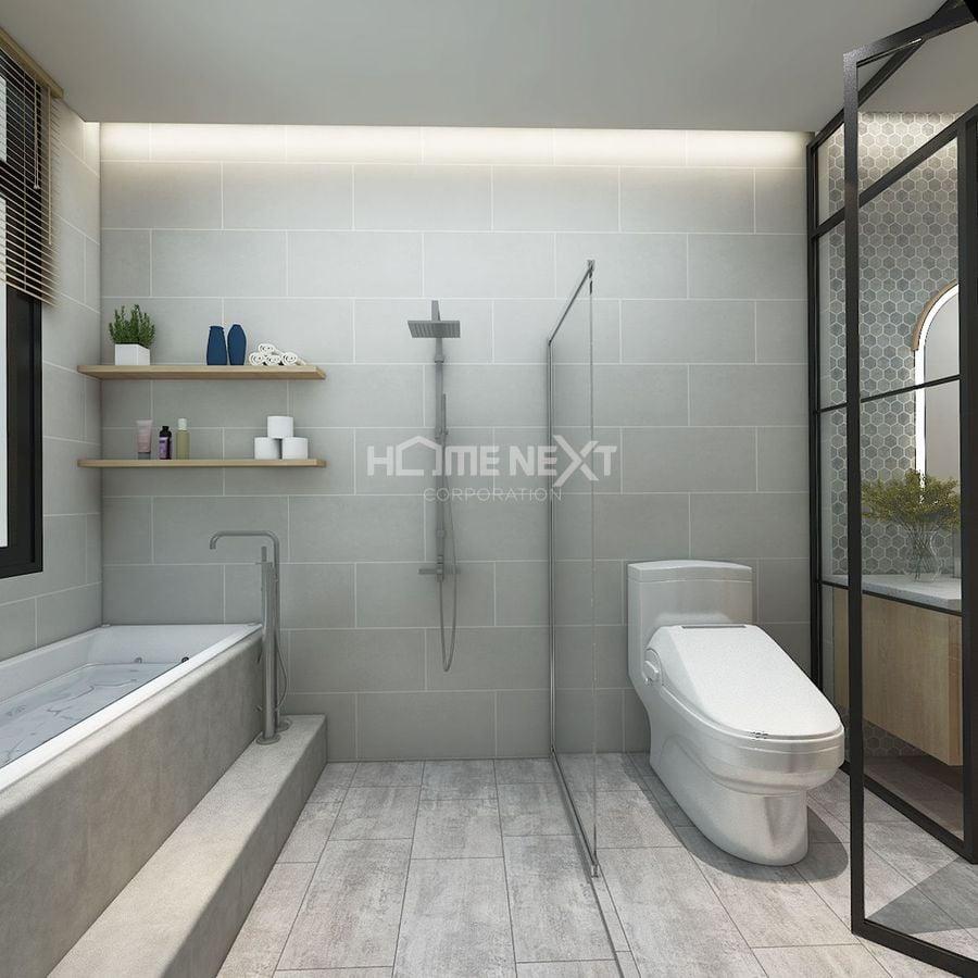 Phòng tắm sử dụng nội thất cao cấp - hiện đại