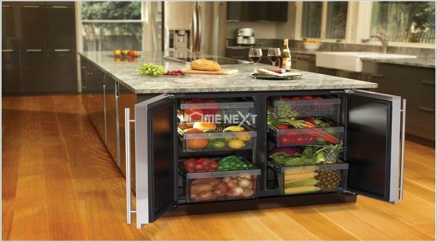 Cung cấp không gian lưu trữ tuyệt vời, tạo sự ngăn nắp, gọn gàng và sang trọng cho căn bếp