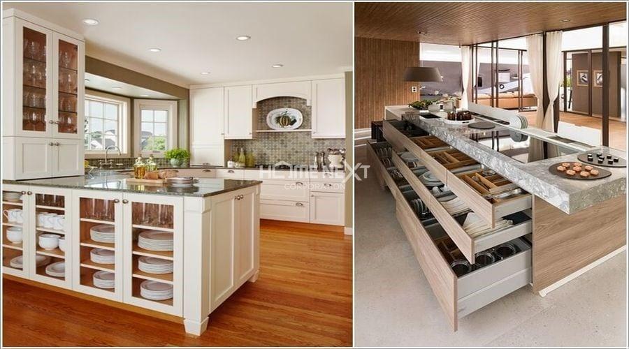 Cung cấp không gian lưu trữ tuyệt vời, tạo sự ngăn nắp, gọn gàng và sang trọng cho căn bếp đẹp hơn